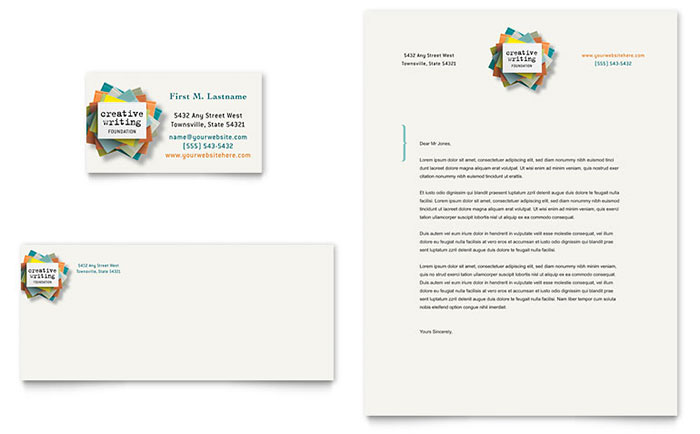 Writer's Workshop Business Card & Letterhead Template Design
