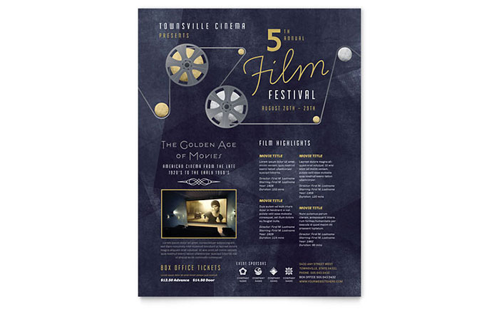 Film Festival Flyer Template Design