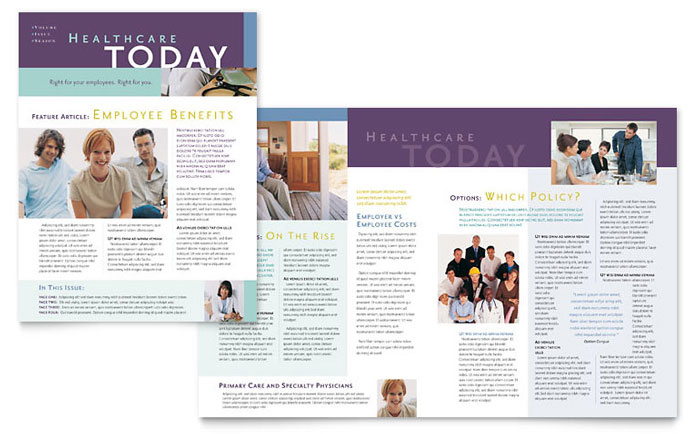 Medical Insurance Company Newsletter Template Design