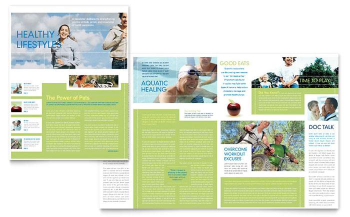 Healthcare Management Newsletter Template Design