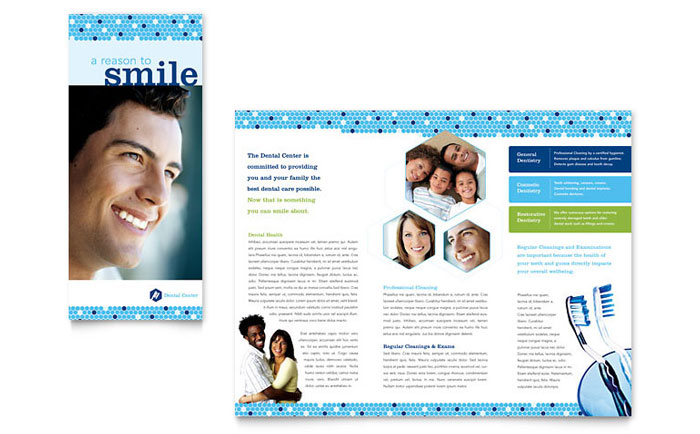 Dentistry & Dental Office Brochure Template Design