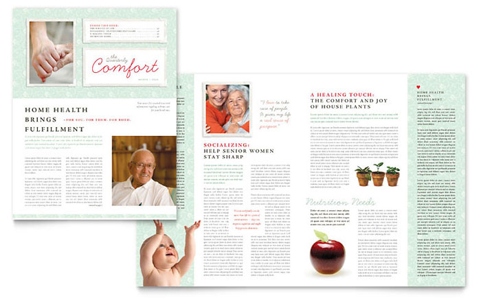 Senior Care Services Newsletter Template Design