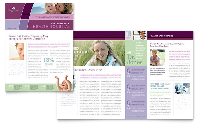 Women's Health Clinic Newsletter Design