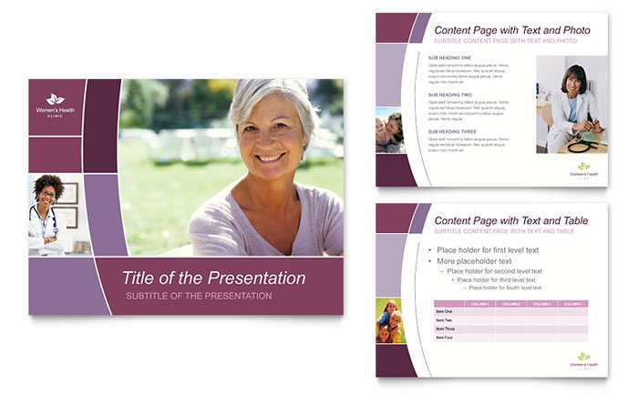 Women's Health Clinic PowerPoint Presentation Template Design