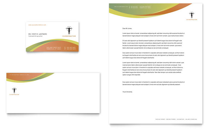 Massage & Chiropractic Business Card & Letterhead Template