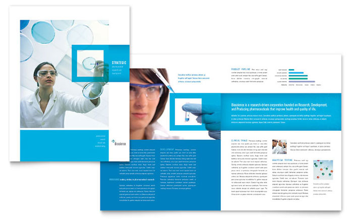 Science & Chemistry Brochure Template Design