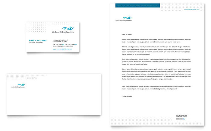 Medical Billing & Coding Business Card & Letterhead