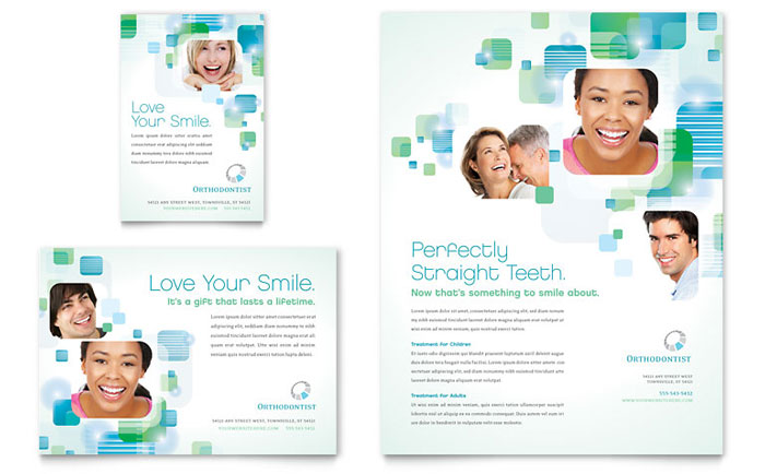 Dentist & Orthodontist Flyer & Ad Design