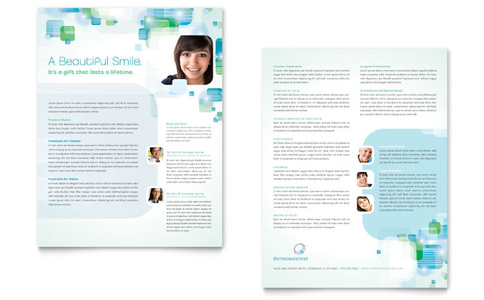 Dentist & Orthodontist Datasheet Design
