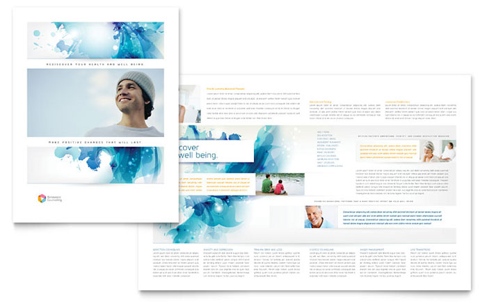 Behavioral Counseling Brochure Template Design