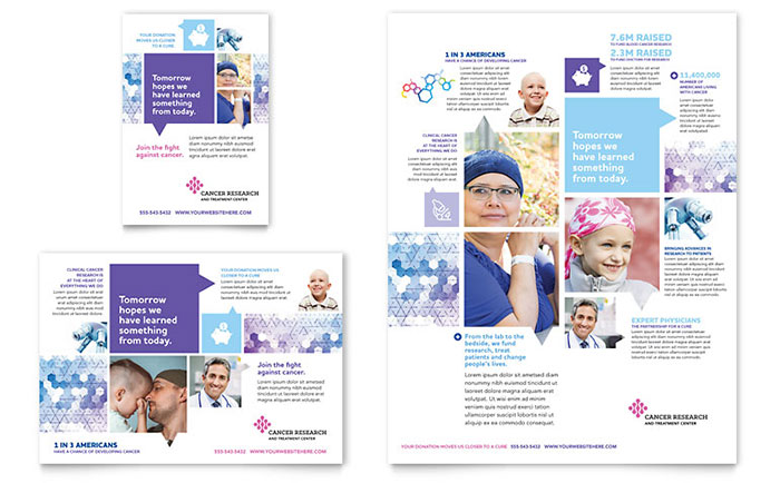 Cancer Treatment Flyer & Ad Template Design