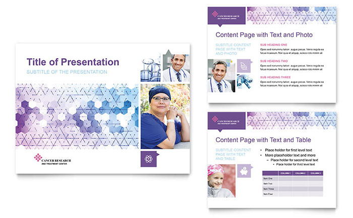 Cancer Treatment PowerPoint Presentation Template Design