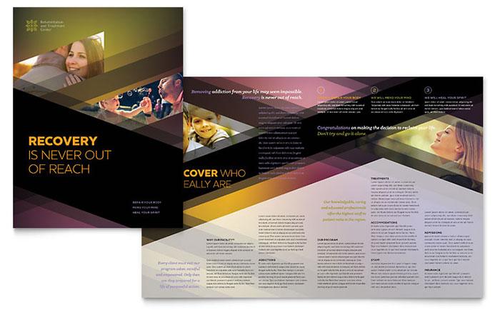 Rehab Center Brochure Template Design