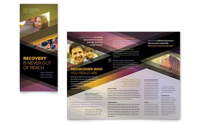 Psychology & Mental Health Tri Fold Brochure Templates