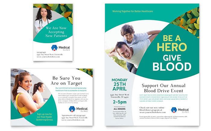 Make PatientFriendly Literature For A Doctors Office With - Medical office brochure templates