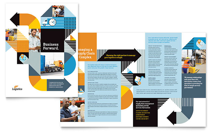 Logistics & Warehousing Brochure Template Design