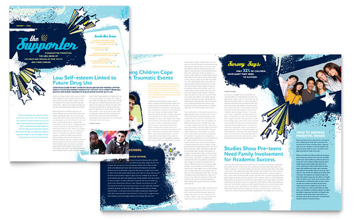 Child Advocates Newsletter Design