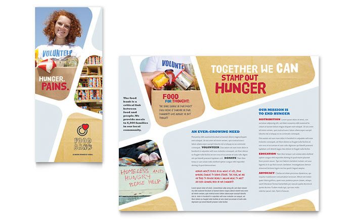 Food Bank Tri Fold Brochure Design