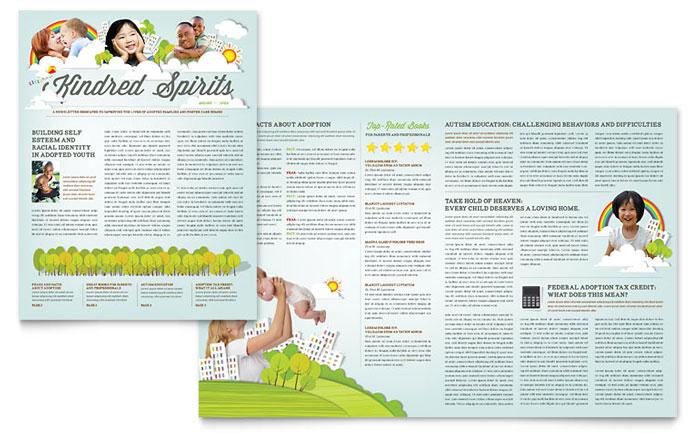 Foster Care & Adoption Brochure Template Design