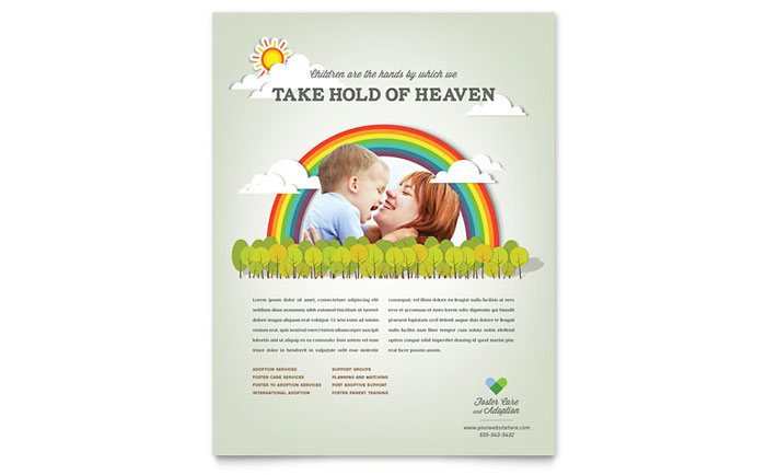 Foster Care Amp Adoption Flyer Template Design