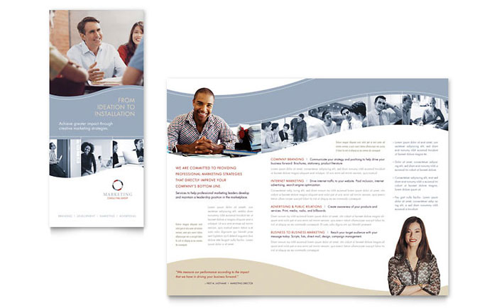 Marketing Brochure Template Ideal Vistalist Co
