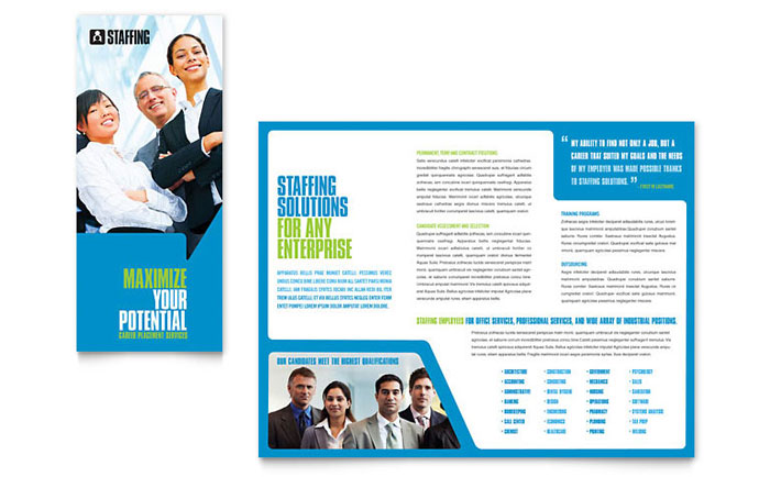 Staffing & Recruitment Agency Brochure Template Design