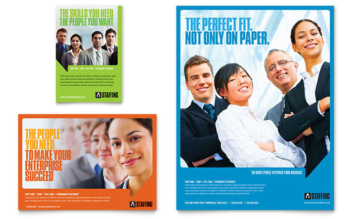 Staffing & Recruitment Agency Flyer & Ad Template Design