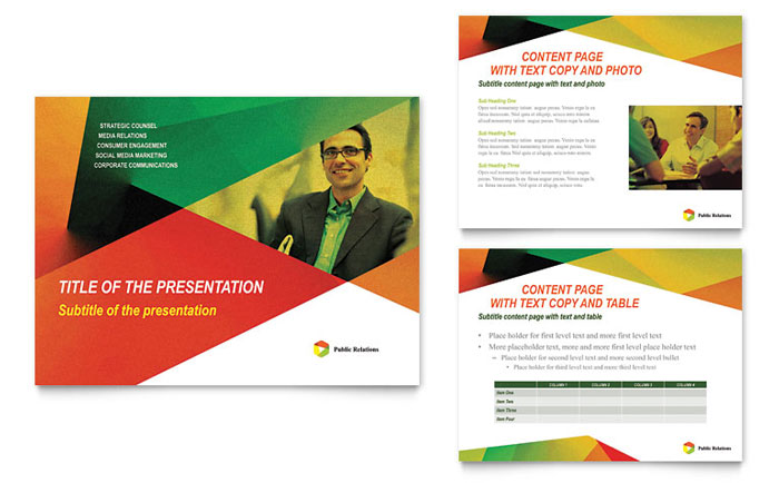 Public Relations Company Presentation Design