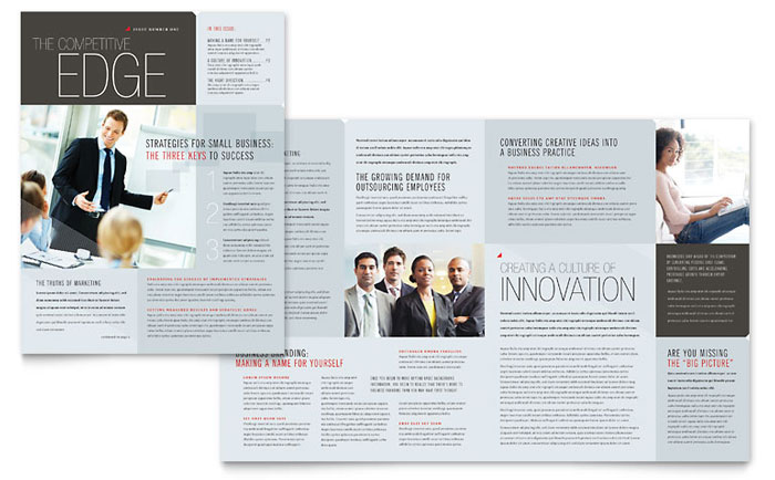 Corporate Business Newsletter Design