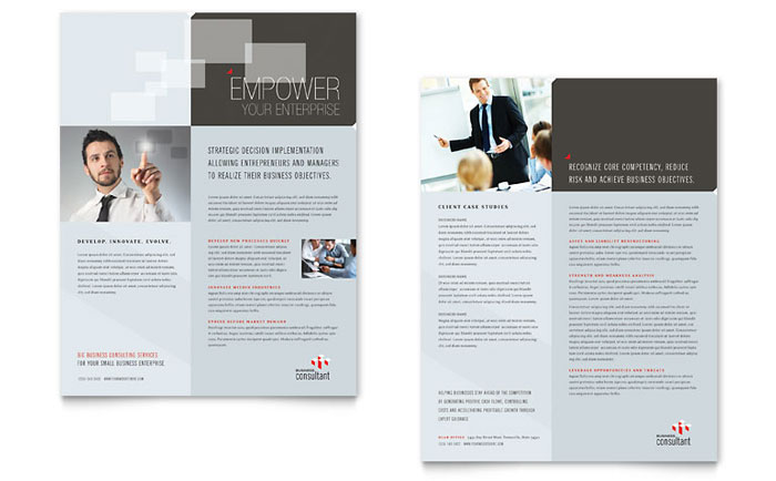 Corporate Business Datasheet Design