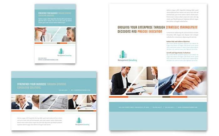 Management Consulting Flyer & Ad Template Design