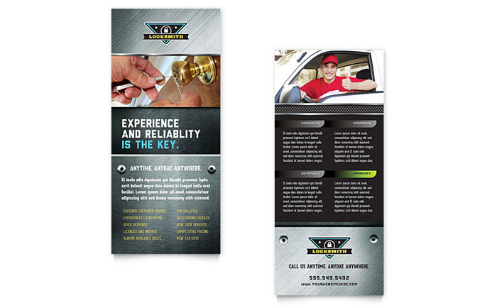 Locksmith Rack Card Design