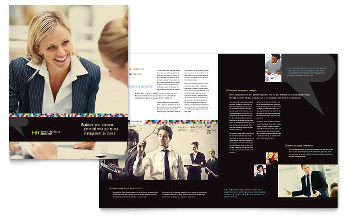 Human Resource Management Brochure Template Design