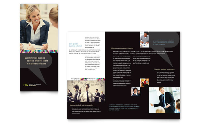 Tri Fold Brochure Sample - Human Resource Management