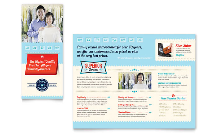 Laundry Services Brochure Template Design