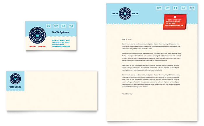 Laundry Services Stationery Design