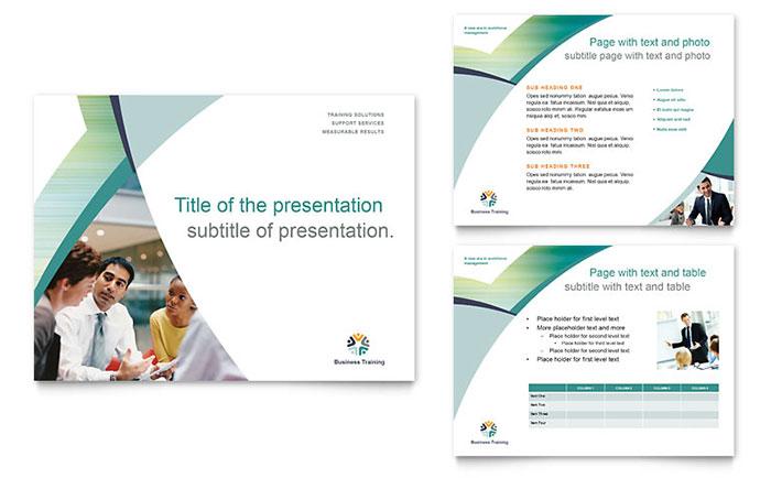 Business Training PowerPoint Presentation Template Design