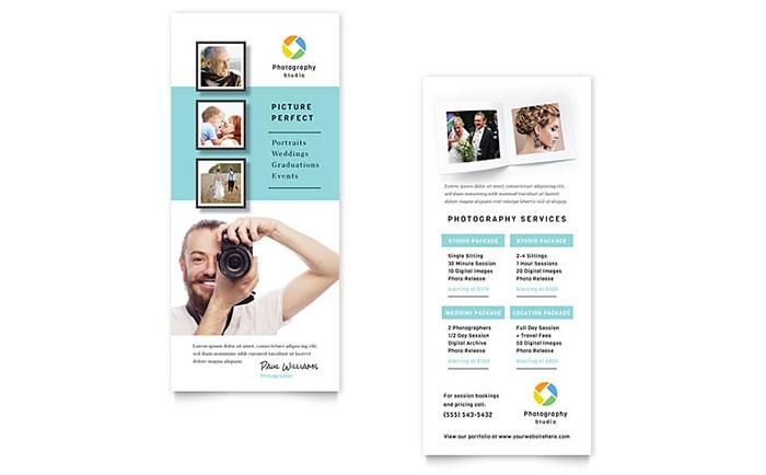 Photographer Marketing Price List Rack Card