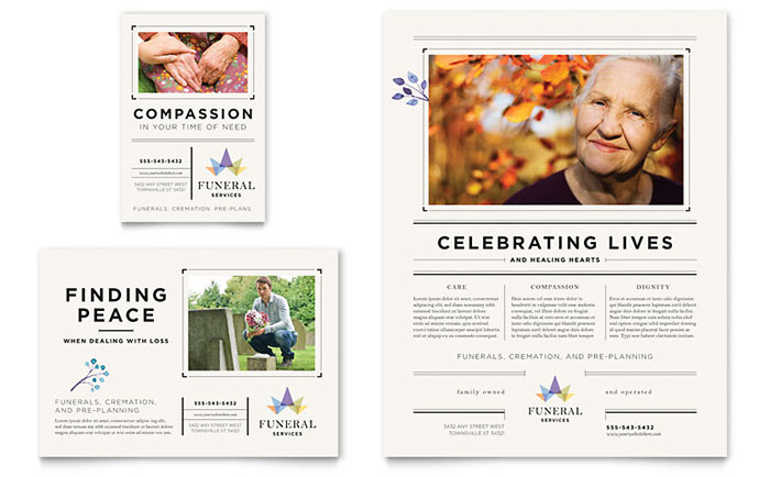 Funeral Services Flyer & Ad Template Design