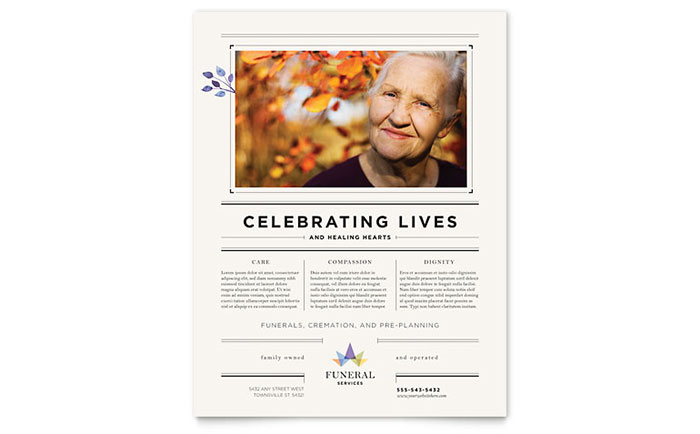 Funeral Services Flyer Template Design