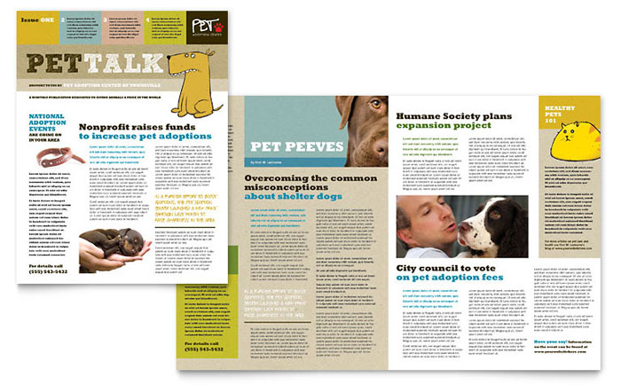 Animal Shelter & Pet Adoption Newsletter Design