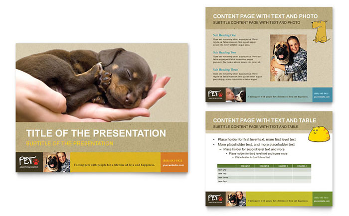 Animal Shelter & Pet Adoption PowerPoint Presentation Template Design
