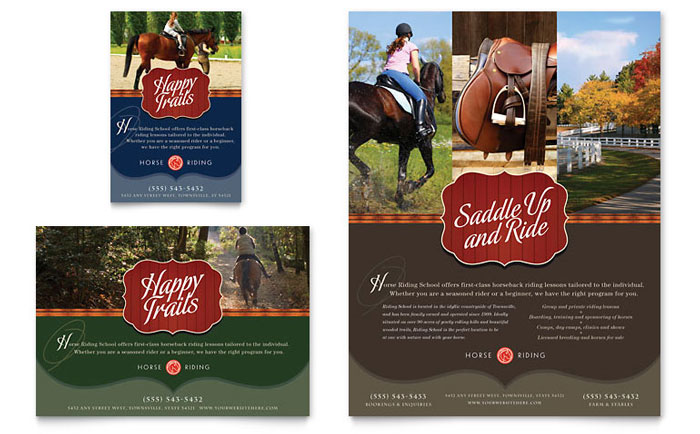 Flyer & Ad Example - Horse Riding Stables & Camp