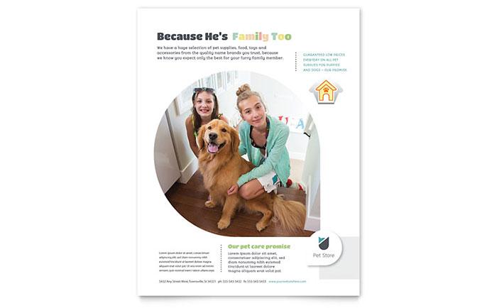 Pet Store Flyer Template Design