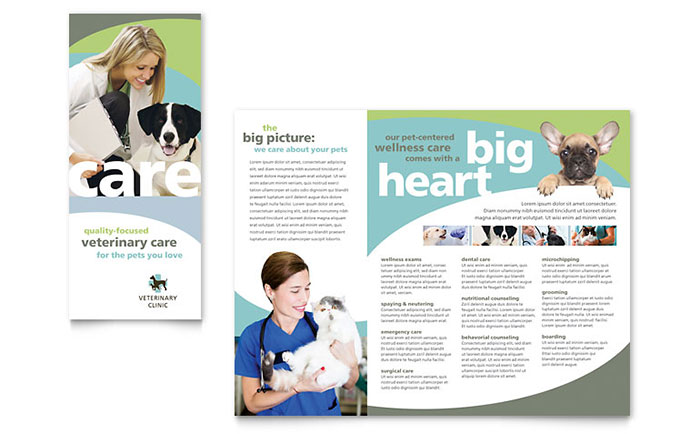 Vet Clinic Brochure Template Design