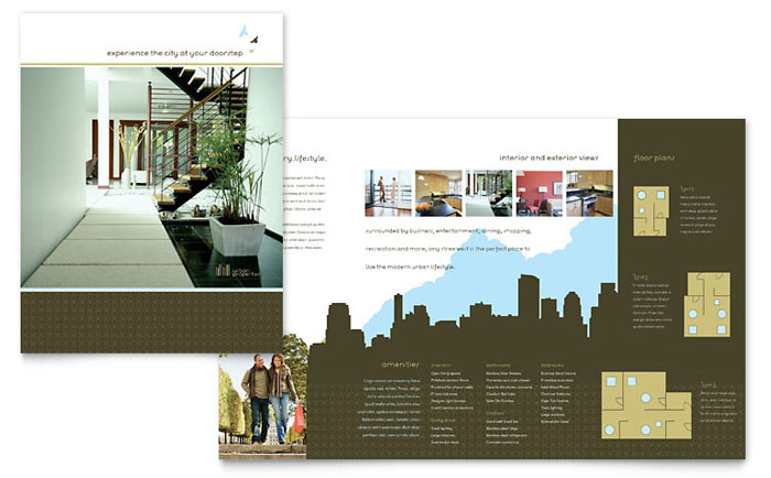 Apartment marketing brochures flyers newsletters for Apartment design examples