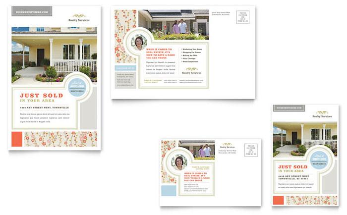 Real Estate Home for Sale Postcard Design