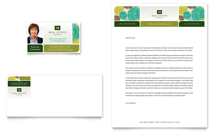 Real Estate Business Card & Letterhead Design