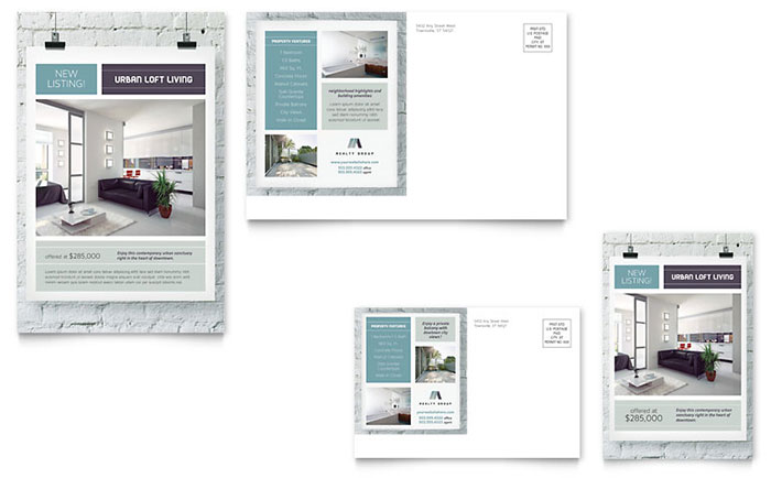 Urban Real Estate Direct Mail Postcard Design