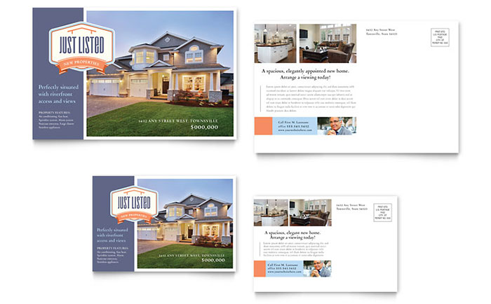 Just Listed Real Estate Postcard - Sample Template